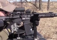 AR-15 with Magnifier from Compact Shooting Rest