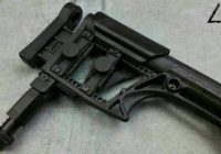 AR Buttstock Rail and Ultimate Rail-Pod on LUTH-AR Stock