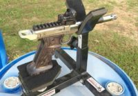 Smith and Wesson SW22 Victory Pistol on P3 Ultimate Shooting Rest