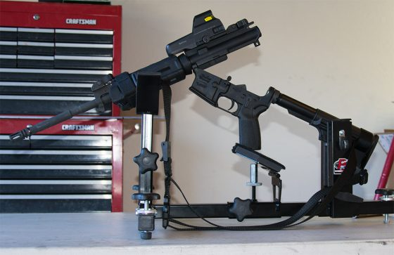P3 Ultimate Gun Vise with Shooting Rest Attachment - AR15