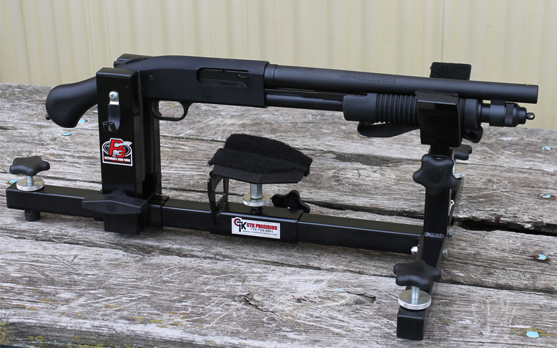 Mossberg 590 Shockwave Shotgun in P3 Ultimate Gun Vise