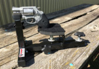 Compact Shooting Rest with Smith & Wesson 637 Revolver