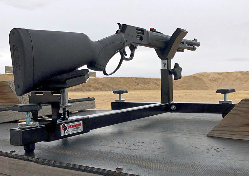 Henry Model X Tactical Lever-gun in P3 Ultimate Shooting Rest